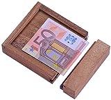Money - Der Geldschein-Tresor - für Geldgeschenke in schöner Verpackung - Trickkiste - Denkspiel - Knobelspiel - Geduldspiel aus Holz
