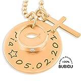 Taufkette Rosegold 925 Silber Gravur Tauffisch ❤️ Namenskette Taufe Taufring ❤️ Taufschmuck ❤️ Geschenk Mädchen Silberschmuck | HANDMADE IN GERMANY