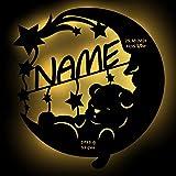 """Schlummerlicht24 Nachtlicht """"Sweet Dreams"""", Geschenk zur Geburt oder Taufe mit Namen nach Wunsch, LED-Leuchte für das Kinderzimmer oder Babyzimmer, handgemacht"""