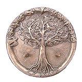 Taufkerzenleuchter für Zwillinge 14cm Bronze Edelpatina braun